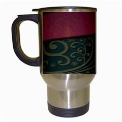 Beautiful Floral Textured Travel Mugs (White)