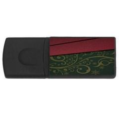 Beautiful Floral Textured USB Flash Drive Rectangular (4 GB)