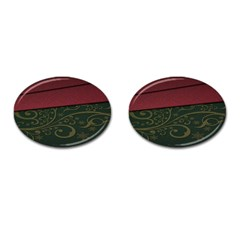 Beautiful Floral Textured Cufflinks (Oval)