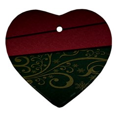 Beautiful Floral Textured Heart Ornament (Two Sides)