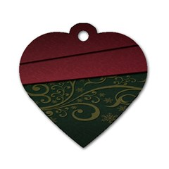 Beautiful Floral Textured Dog Tag Heart (One Side)