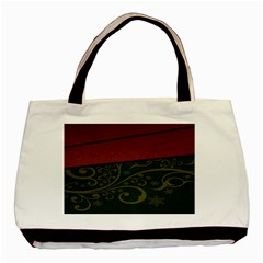 Beautiful Floral Textured Basic Tote Bag (two Sides)