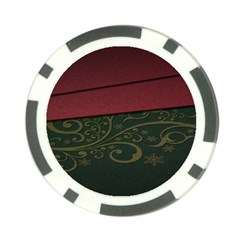 Beautiful Floral Textured Poker Chip Card Guard