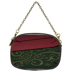 Beautiful Floral Textured Chain Purses (one Side)