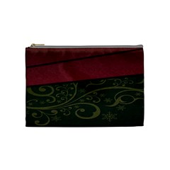 Beautiful Floral Textured Cosmetic Bag (medium)