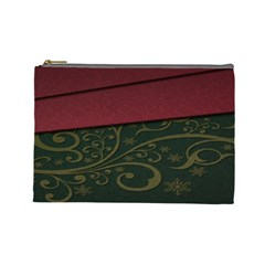 Beautiful Floral Textured Cosmetic Bag (Large)