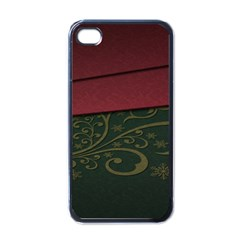 Beautiful Floral Textured Apple iPhone 4 Case (Black)