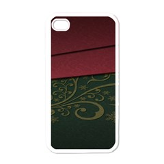 Beautiful Floral Textured Apple Iphone 4 Case (white)
