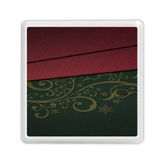 Beautiful Floral Textured Memory Card Reader (square)