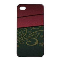 Beautiful Floral Textured Apple Iphone 4/4s Seamless Case (black)