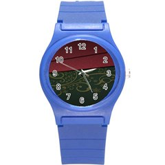 Beautiful Floral Textured Round Plastic Sport Watch (s)