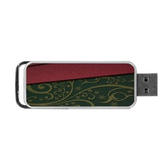 Beautiful Floral Textured Portable USB Flash (Two Sides)