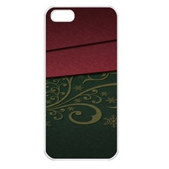 Beautiful Floral Textured Apple iPhone 5 Seamless Case (White)