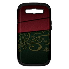 Beautiful Floral Textured Samsung Galaxy S Iii Hardshell Case (pc+silicone)