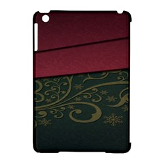 Beautiful Floral Textured Apple iPad Mini Hardshell Case (Compatible with Smart Cover)