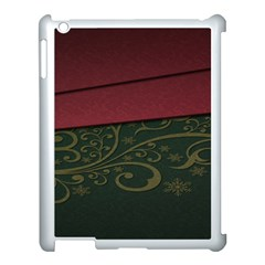 Beautiful Floral Textured Apple iPad 3/4 Case (White)