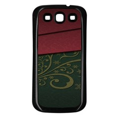 Beautiful Floral Textured Samsung Galaxy S3 Back Case (Black)