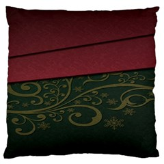 Beautiful Floral Textured Standard Flano Cushion Case (Two Sides)