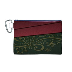 Beautiful Floral Textured Canvas Cosmetic Bag (M)