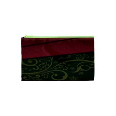 Beautiful Floral Textured Cosmetic Bag (XS)