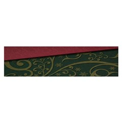 Beautiful Floral Textured Satin Scarf (oblong)