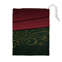 Beautiful Floral Textured Drawstring Pouches (Extra Large)