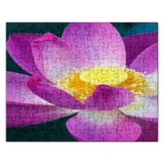 Pink Lotus Flower Rectangular Jigsaw Puzzl
