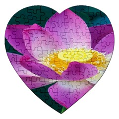 Pink Lotus Flower Jigsaw Puzzle (Heart)