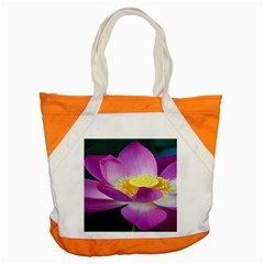 Pink Lotus Flower Accent Tote Bag