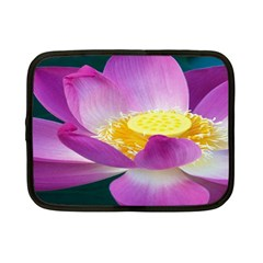 Pink Lotus Flower Netbook Case (Small)