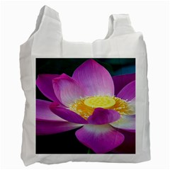 Pink Lotus Flower Recycle Bag (Two Side)