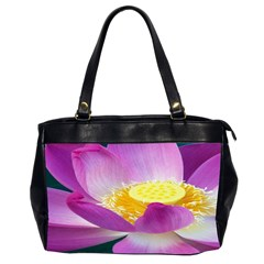 Pink Lotus Flower Office Handbags (2 Sides)