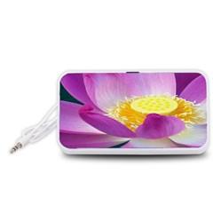 Pink Lotus Flower Portable Speaker (White)