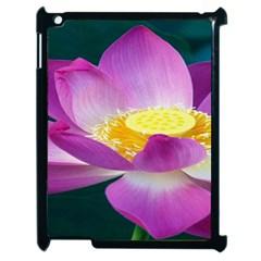 Pink Lotus Flower Apple Ipad 2 Case (black)