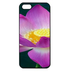 Pink Lotus Flower Apple Iphone 5 Seamless Case (black)