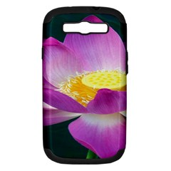 Pink Lotus Flower Samsung Galaxy S III Hardshell Case (PC+Silicone)