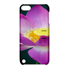 Pink Lotus Flower Apple Ipod Touch 5 Hardshell Case With Stand