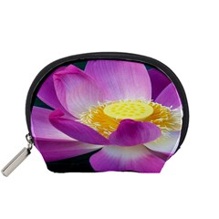 Pink Lotus Flower Accessory Pouches (small)