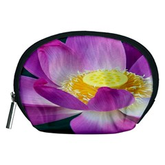 Pink Lotus Flower Accessory Pouches (medium)