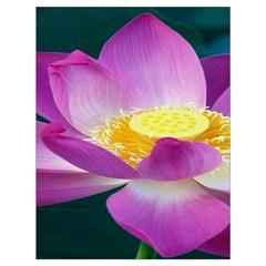 Pink Lotus Flower Drawstring Bag (Large)