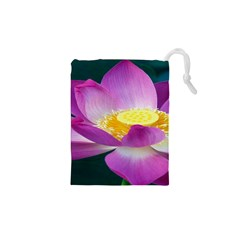 Pink Lotus Flower Drawstring Pouches (xs)