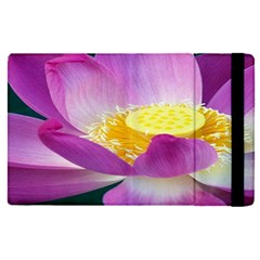 Pink Lotus Flower Apple Ipad Pro 12 9   Flip Case