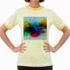 Abstract Color Plants Women s Fitted Ringer T-Shirts