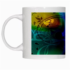 Abstract Color Plants White Mugs