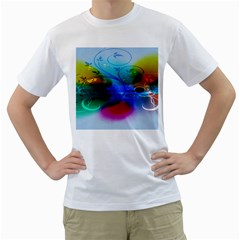 Abstract Color Plants Men s T-Shirt (White) (Two Sided)