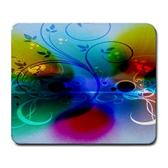 Abstract Color Plants Large Mousepads