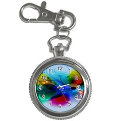 Abstract Color Plants Key Chain Watches