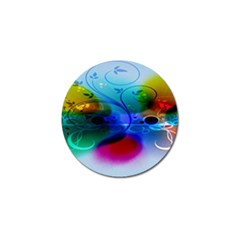 Abstract Color Plants Golf Ball Marker (4 pack)