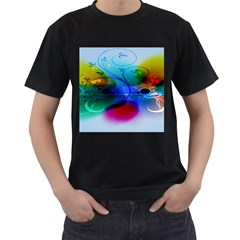 Abstract Color Plants Men s T Shirt (black) (two Sided)