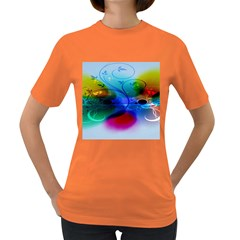 Abstract Color Plants Women s Dark T-Shirt